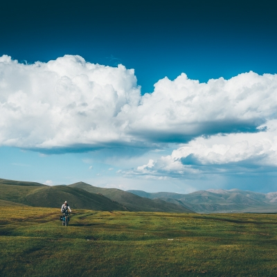 Cycle Touring - Big sky